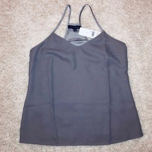 Banana Republic Racerback Tank/Shell. Grey. NWT.